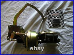 1935-40 Ford Dual 7 Power Brake Booster Master Cylinder Pedal Bracket Assembly