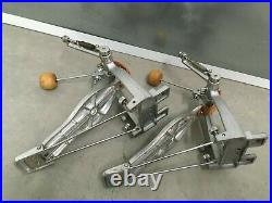 2 Vintage Pearl Japan Pro Line Foot Pedals, Double Bass Drums