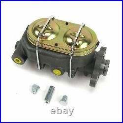 47-54 Chevy Truck 8 Dual Brake Pedal kit Drum/Drum3in Blk Pad street cylinder
