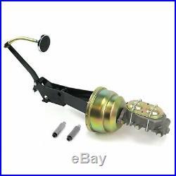 49-54 Chevy Car 8 Dual Brake Pedal kit Drum/Drum3in Chr Pad rod rat master