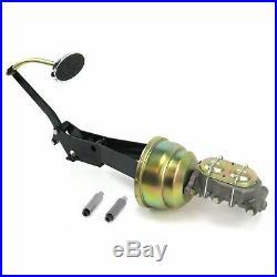 49-54 Chevy Car 8 Dual Brake Pedal kit Drum/DrumLg Oval Chr Pad rod master rat