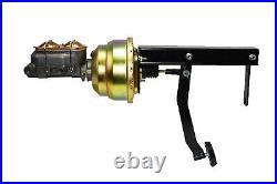 8 Dual Power Brake Booster Pedal Firewall Mount Bracket Assembly Street Rod