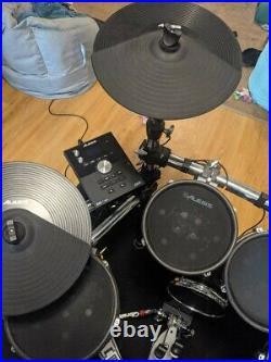 Alesis Dm10 MKII Pro Kit Electronic Drum Set with Gibraltar Double Kick pedal