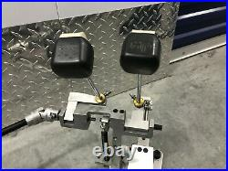 Axis A Longboard CHROME Double Bass Drum Pedals! VG