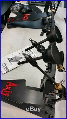 Axis A Longboard Double Bass Drum Pedal Black Lightly used