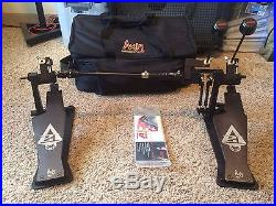 Axis Percussion Sabre A21 Double Kick Drum Pedal Black with Axis Soft Case