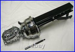 CHROME 8 Dual Power Booster Bail Top Master Cylinder Brake Pedal & Bracket Kit