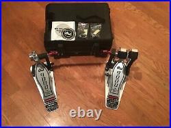 DW9000 Double Bass Drum Pedal Superb Condition DW 9000 With Case