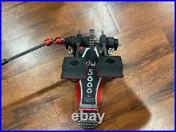 DW 5000 Double Bass Drum Pedal DW5002 / DW DWSM105 Hardcore Beaters. 2x Chain