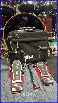 DW 5000 Double Bass Drum Pedal DWCP5002TD4 withcase & Aftermarket Parts (must see)
