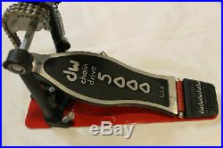 DW 5000 Series Single Turbo Bass Drum Pedal Delta hinge dual chain