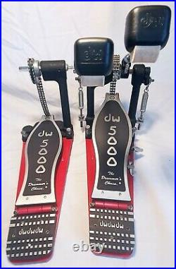 DW 5002TD4 Turbo Black Double Bass Drum Pedal with Carry Case and accessories