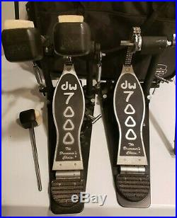 DW 7000 Double Bass Drum Pedal with Soft Carry Case
