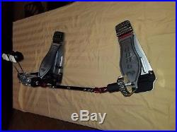 DW 9000 Double Bass Drum Pedal DWCP9002 with case excellent condition