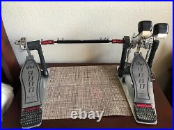 DW 9000 Double Bass Drum Pedal Used
