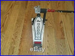 DW 9000 Double Bass Drum Pedals WithHard Case & Extras - Excellent Condition