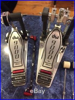 DW 9000 Series Double Bass Drum Pedal Mint Condition