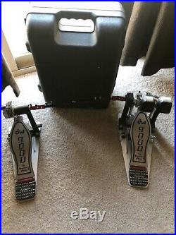 DW 9000 Series Double Bass Drum Pedal with hard case