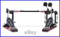 DW DOUBLE BASS KICK DRUM SET PEDAL with CASE ACCELERATOR 5000 SERIES DWCP5002AD3