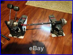 DW Drums 9000 Series Double Bass Drum Pedal with case
