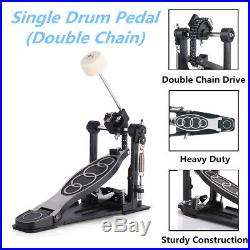 Double Chain Single Bass Drum Pedal Drive Music Foot Percussion Adult Adjustable