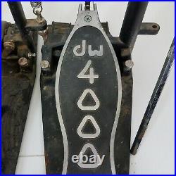 Drum Workshop DW 4000 Series Double Bass Drum Pedal Black/Silver