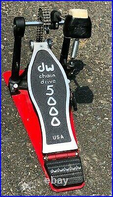 Drum Workshop DW 5000 Single Bass Drum Pedal Double Chain