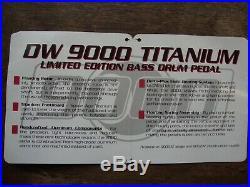 Drum Workshop DW-9002 AT Titanium Double Bass Drum Pedals Limited Edition