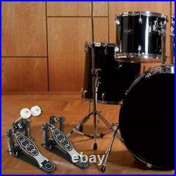 Drums Pedal Double Bass Dual Foot Kick Percussion Drum Set Accessories Black