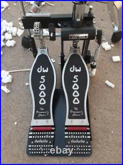 Dw 5000 Series Double Bass Drum Pedal & 5000 Series Hi-hat With Clutch Set