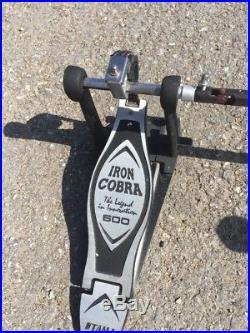 Free P&P. Tama Iron Cobra 600 Double Bass Drum Pedal. P84203
