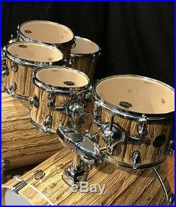 Mapex Mars 8 Piece Double Bass Drum Set w. ZBT Cymbals-MA529SFIW-Driftwood