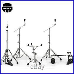 NEW Mapex Armory Series HP8005-DP 5-Piece Hardware Pack with Double Pedal Chrome