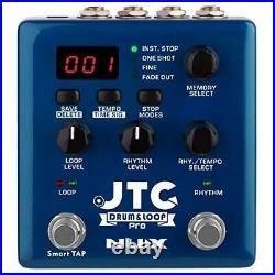 NUX JTC PRO Drum Loop Dual Switch Looper Pedal 6H Recording Time 24-bit&44.1 kHz