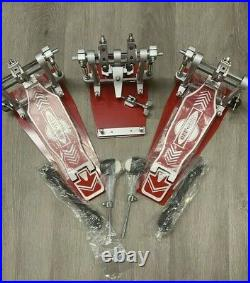 OffSet DOUBLE Bass Drum Pedal RED