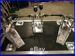 Off-Set Bass Eclipse Double Drum Pedal with Direct Drive Conversion Kit