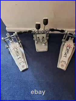 Offset Bass Drum Pedal Middle Double Pedal