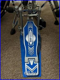 Offset Eclipse Bass Drum Double Pedal in Blue + Extra Shafts, Mint! $249.99