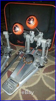 PEARL P3002D Eliminator Demon Drive Double Bass Drum Pedal WithCase