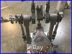 PEARL P3002D Eliminator Demon Drive Double Bass Drum Pedal adult owned