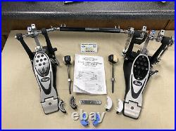 PEARL P-2002CL PowerShifter Eliminator Double BASS Drum Pedal Set USED