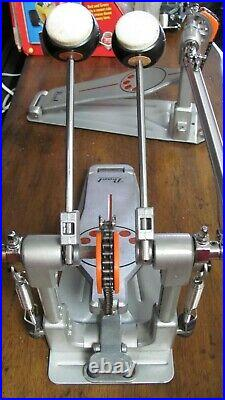 PEARL P-932 DEMONATOR TWIN PEDAL CHAIN DOUBLE BASS DRUM PEDAL Great Condition