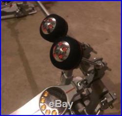 Pearl Demon Drive Double Bass Drum Pedal P3002d with Case Excellent condition
