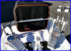 Pearl P3002C Eliminator Demon Chain Drive Double Bass Drum Pedal w Case EXC