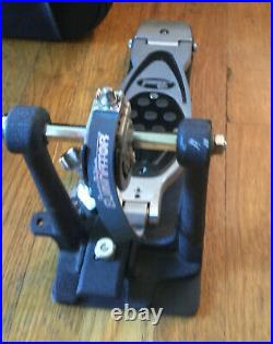 Pearl PowerShifter Eliminator Belt Drive Double Bass Drum Pedal P2002B WithCase