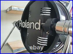 Roland KD-120 black kick bass drum mesh trigger for single / dual pedal setups