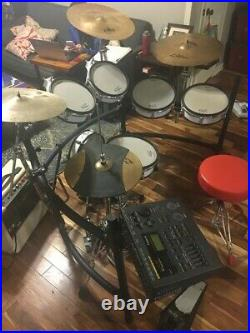 Roland TD-10 Electronic Drum Kit with Zildjian cymbals, amp, double base