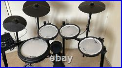 Roland TD-17 KV V-Drums Electronic Kit with double bass pedal & Throne