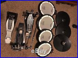 Roland TD-4SX with Accessories (amp, midi cables, 1/4 inch cables, double pedal)