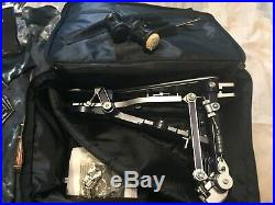 Sonor giant step twin effect single double bass drum pedal, rare